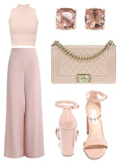 """""""Pinky Nudes for Date Night"""" by iseth-jingco-cruz featuring WearAll, Zimmermann, Steve Madden, Carolee and Chanel Dressy Outfits, Teen Fashion Outfits, Mode Outfits, Girly Outfits, Look Fashion, Stylish Outfits, Girl Fashion, Elegantes Business Outfit, Mode Pastel"""