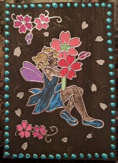My third ATC, made November 2016 Flowery Fairy 3 of 3