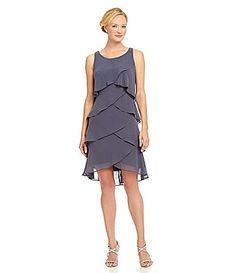 Gray Grey Bridesmaid Dress | $87 | Dillards | wedding ceremony reception bridesmaids maid of honor silver