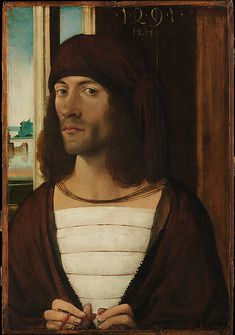 German (Nuremberg) Painter (late 15th century). Portrait of a Man, 1491. The Metropolitan Museum of Art, New York. Fletcher Fund, 1923 (23.255)