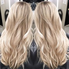 My foilayage technique..blonde hair