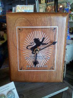 Upcycled cigar box clock