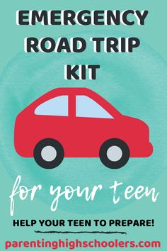 Is your teen preparing to head back to college? Is your teen headed for the first time? We need to help our teens to prepare for any type of circumstance so that in the moment of an emergency, they won't need to think about it. Here are tips for packing an emergency road trip kit. #collegeprep #emergencyroadtrip #emergencykit #parentinghighschoolers Raising Teenagers, Parenting Teenagers, Parenting Quotes, Parenting Advice, Activities For Teens, Sibling Rivalry, Teen Life, Boredom Busters, Road Trip