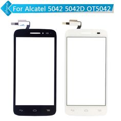 Black White For Alcatel One Touch POP 2 5042D OT5042 5042 Touch Screen Digitizer Glass with flex cable