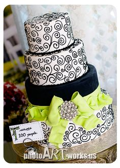 Wedding Cake...this is really nice. Would be cool to have blue and pink instead Starting a Catering Business Start your own catering business http://www.startingacateringbusiness.com