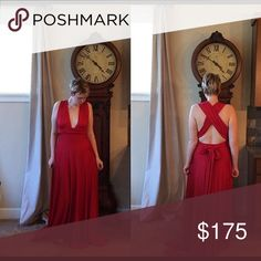 NWOT H. Pick Mint Condition Bought a few years ago from an Etsy account but never worn. There's many ways to wrap this gorgeous gown. I'm a size 6/8 and 5'6. Any questions or offer are welcome! Xoxo Asch Dresses Maxi