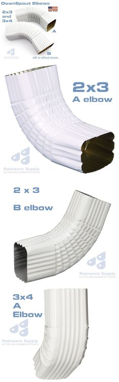 Gutter Elbow A Or B 2 X3 Or 3 X4 Downspout Aluminum White Quantity Discounts Ebay Downspout Gutter Slip On Sneaker