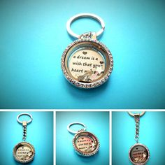 A DREAM IS A WISH YOUR HEART MAKES  Cinderella inspired filled memory locket