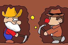 "PixelProspector Art ""Prospector and Spelunky"" by Adam"