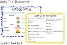 Speech Time Fun: Going To A Restaurant: Language & Pragmatic Activities!!