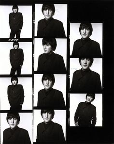 Shooting Film: Interesting Contact Sheets of a Photo Session with John Lennon and Paul McCartney in 1965 John Lennon Paul Mccartney, John Lennon Beatles, The Beatles, David Bailey Photography, Liverpool, The Quarrymen, Contact Sheet, Music Images, The Fab Four