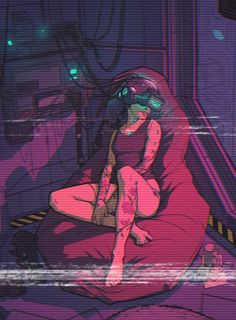 Zoning out while surfing the net, cyberpunk / sci-fi