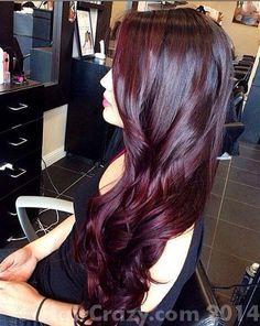age beautiful hair color dark red mahogany brown - Google Search