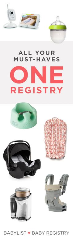 When you use BabyList as your go-to baby registry, you can add anything you want. From Etsy to recipes, this baby registry has it all! Baby Sitting, Baby Necessities, Baby Essentials, Trendy Baby, Baby Registry Checklist, Baby Registry Must Haves, My Bebe, Baby Box, Baby List