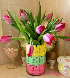 Easter Peeps Floral Arrangement