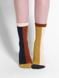 hansel from basel mismatched crew sock colour block modern Cute Socks, My Socks, Happy Socks, Funky Socks, Looks Style, Style Me, Mode Inspiration, Sock Shoes, What To Wear