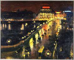 *Samaritaine* vue de nuit !! du Pont Neuf. A. MARQUET (1875 -1947) AMITIES JULIE