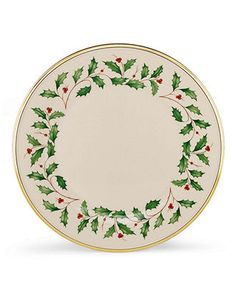 (6) Lenox Dinnerware, Holiday Dinner Plate - Fine China - Dining & Entertaining