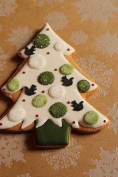 Frosted Christmas Tree Sugar Cookie - Beautiful -- 2013クリスマス アイシングクッキー Part3…