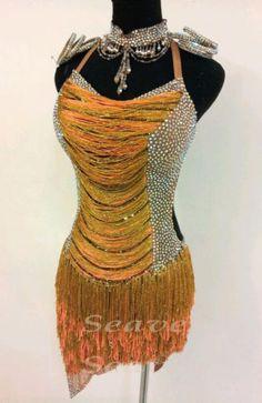 Competition Ballroom Ramba Cha Cha Latin Samba Dance Dress US 8 UK 10