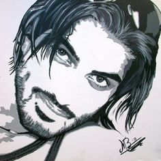 Essam Ali, Model and Actor in Dubai, Contrast painting acryl on canvas 2010 by Marianne Bakkerud, MB Art