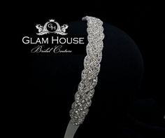 Bridal crystal headband  beaded wedding headpiece by GlamHouse, $70.00