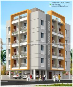 3 Room House Plan, House Plans, Front Gate Design, 2 Storey House Design, Apartment Complexes, New View, Facade House, Modern Buildings, 3d Rendering