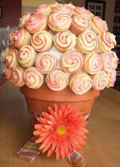 Cupcake display ideas. Maybe for a centerpiece at a wedding instead of one cake?