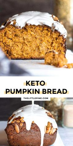 *NEW* Moist fluffy low carb pumpkin bread has the warm sweet flavor of fall without all the carbs to wreck your low carb diet plan. #lowcarbpumpkinbread #ketopumpkinbread Paleo Bread, Low Carb Bread, Bread Recipes, Low Carb Bun, Almond Flour Bread, Lowest Carb Bread Recipe, Low Carb Tortillas, Low Carb Diet Plan, Pumpkin Bread