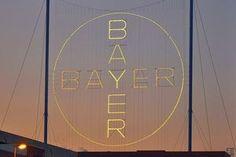 LEVERKUSEN, GERMANY BAYER CROSS Largest illuminated advertisement sign in the world