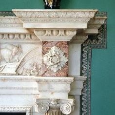 mount vernon dining room restoration fireplace detail - Google Search