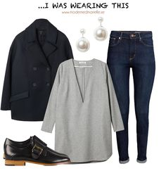 casual everyday look  Peacoat, Cos // Tunic, Carin Wester // Jeans, H&M Conscious // Earrings, Monki // Shoes, Whyred