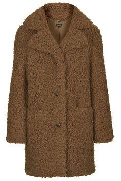 Faux Fur Teddy Coat - New In This Week - New In - Topshop