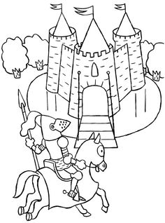 Knight Patrol Around Medieval Castle Coloring Page : Kids Play Color Castle Coloring Page, Star Coloring Pages, Dragon Coloring Page, Online Coloring Pages, Coloring Pages For Kids, Coloring Books, Coloring Sheets For Boys, Free Printable Coloring Sheets, Colouring