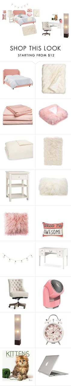 """""""Pink and Cream"""" by catty-glitter-girl on Polyvore featuring interior, interiors, interior design, home, home decor, interior decorating, Nordstrom, UGG, PBteen and Mina Victory"""