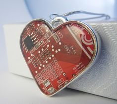 Computer Circuit Board Jewelry by Amanda Preske