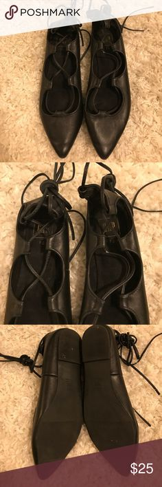 Gap Black Tie-Up Flats Worn once! Great quality and style! GAP Shoes Flats & Loafers