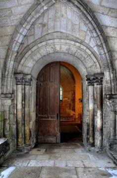 Entrance of the Templar's chapel, Laon, France. 12th c.