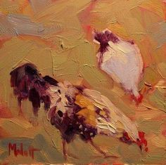 Heidi Malott Original Paintings: Chickens Hen Rooster daily oil painting
