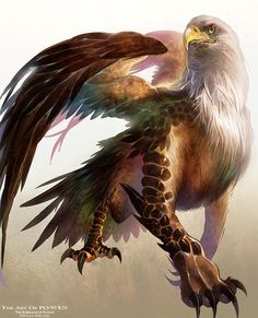 Eagle head Griffin by powenart