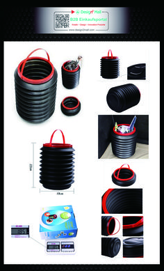 """4L Foldable Car Washing Water Carrier Garbage Trash Can Container(search for AUTO-007-en in store) Pkw Auto Mülleimer """"Ziehharmonika"""""""
