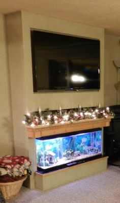 1000 Images About Fishtank Mantel Amp Tv Diy Project On