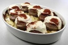 Baconbøffer på stegte kartofler 4