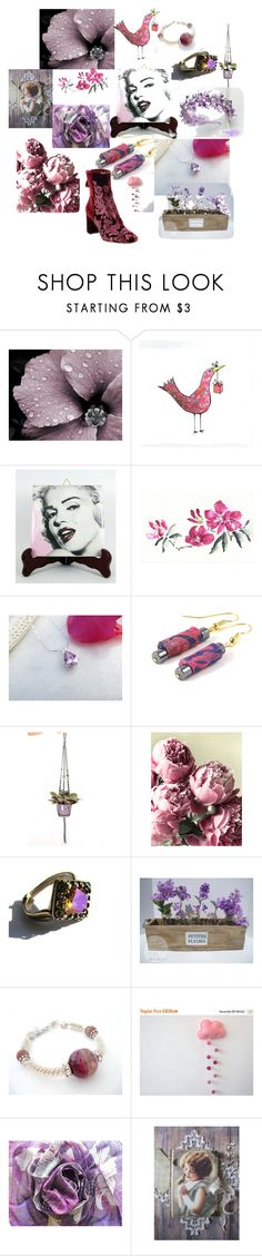 """""""Adorable Gifts on Etsy"""" by anna-recycle ❤ liked on Polyvore featuring WALL"""