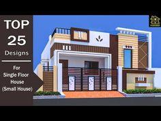 NIKSHAIL - YouTube House Front Wall Design, Single Floor House Design, House Outside Design, Village House Design, House Gate Design, Kerala House Design, Bungalow House Design, Small Modern House Plans, Modern Small House Design