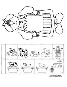 retelling template for Mrs. Wishy Washy