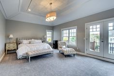 Master Bedroom With Vaulted Ceiling Design Ideas, Pictures, Remodel and Decor