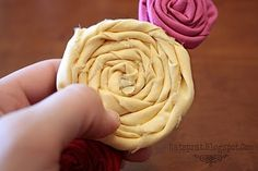 fabric rosettes by dakota moone