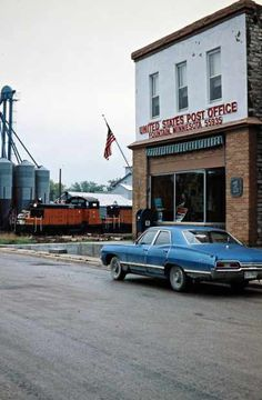 Milwaukee Road (East) by John F. Bjorklund – Center for Railroad Photography & Art Railroad Photography, Art Photography, Milwaukee Road, Rail Car, Post Office, Small Towns, Minnesota, Fountain, Scenery