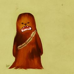 Chewbacca illustrated by Elizabeth Turnsek